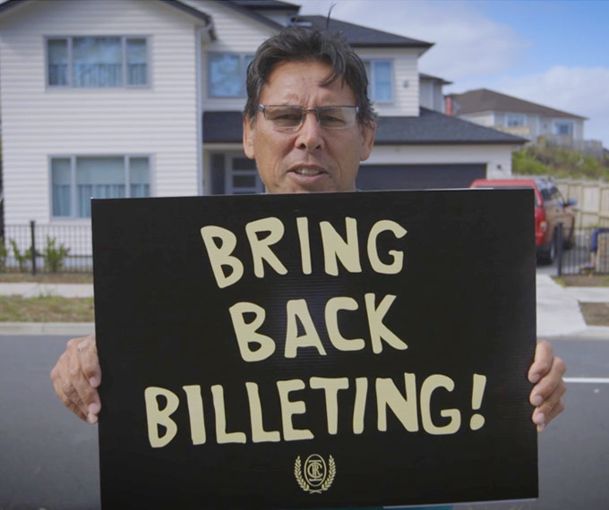 Buck Shelford - Bring Back Billeting