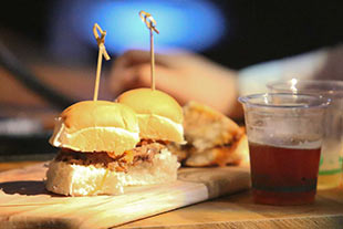 Sliders and Craft Beer